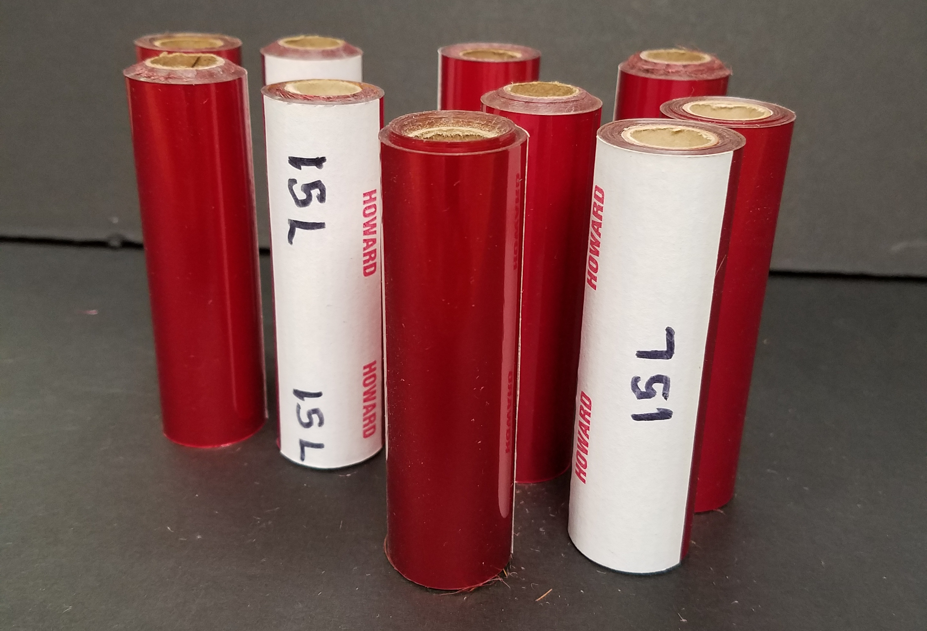 15-L Red Hot Stamping Foil (10 rolls) 3 1/2 inch wide