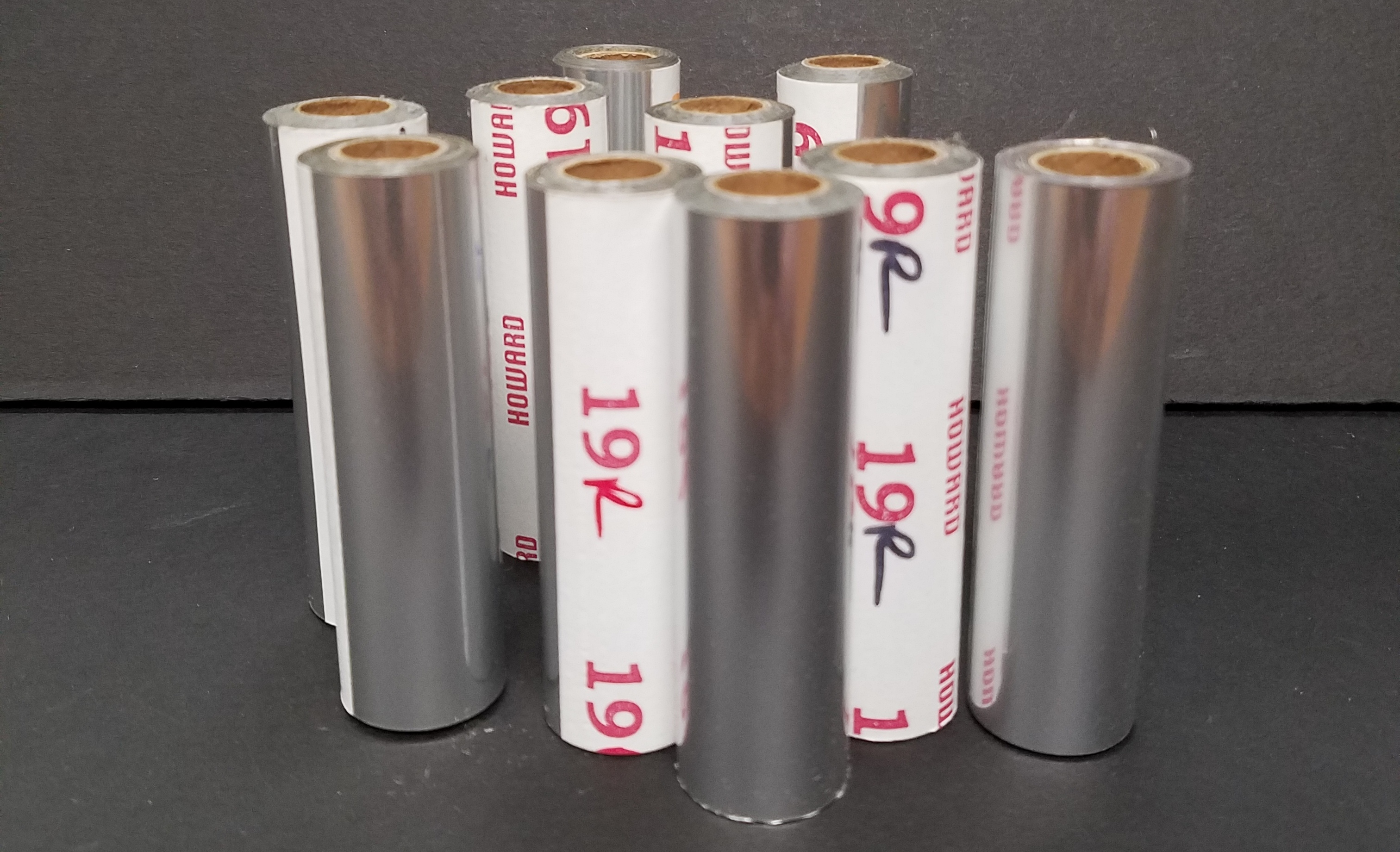 19-R Silver Hot Stamping Foil (10 rolls) 3 inch